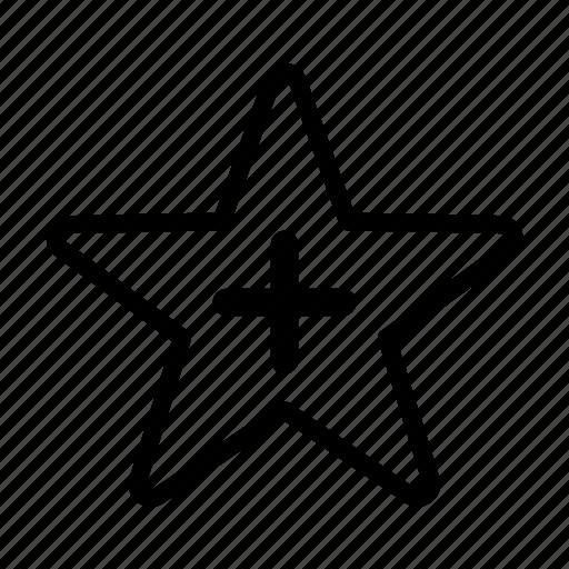 add, bookmark, favorite, plus, star icon