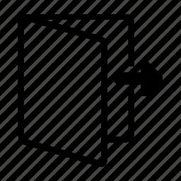 arrow, close, exit, logout, remote, right icon