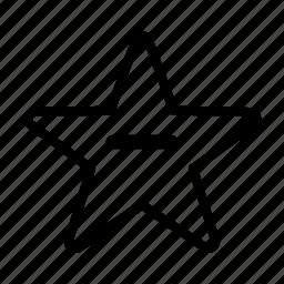 bookmark, delete, favorite, remove, star icon