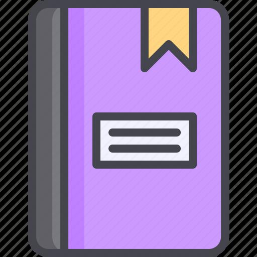book, bookmark, education, read icon