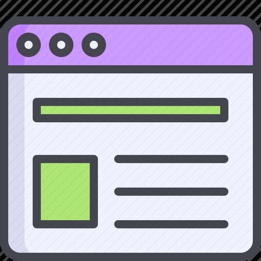 browser, lock, padlock, square, tabs icon