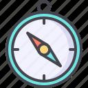 compass, explore, navigation, safari, salor icon