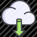 arrow, cloud, download, transfer icon