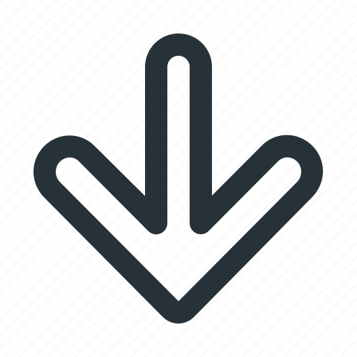 arrow, direction, down, interface, navigation, ui, website icon