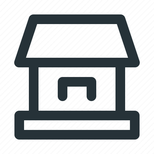 address, coffeshop, home, house, interface, market, office icon