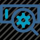 interface, magnifying, marketing, optimization, search engine, seo, technology icon