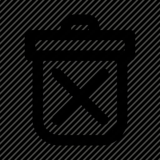 bin, delete, garbage, junk, recycle, trash, waste icon