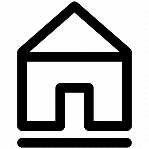 architecture, building, estate, home, house, residential icon