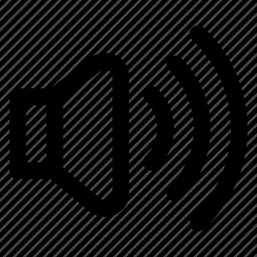 audio, computer, loud, music, sound, speaker, volume icon