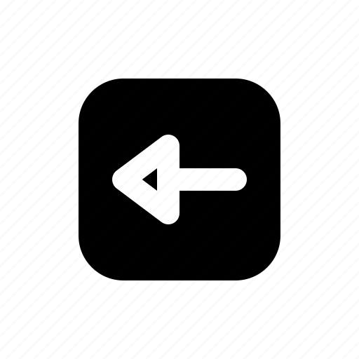 arrow, back, left, media, multimedia, user interface, video icon