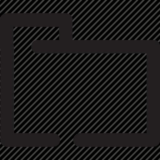 File, folder, outline icon - Download on Iconfinder