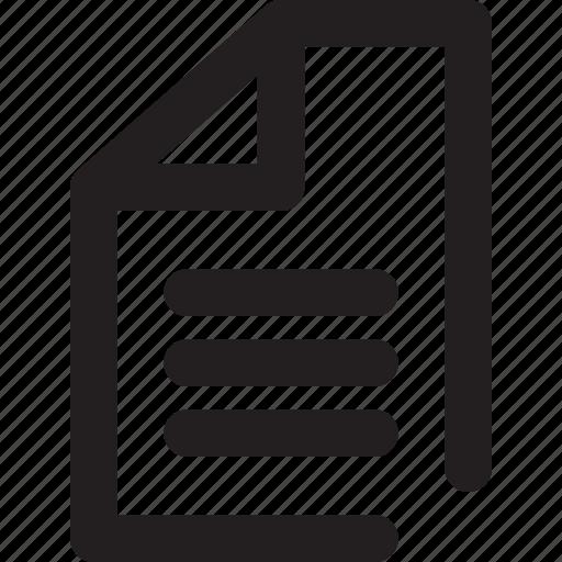 file, outline, paper icon
