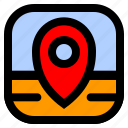 gps, map, poi, ui icon