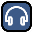 headset, music, song, ui icon