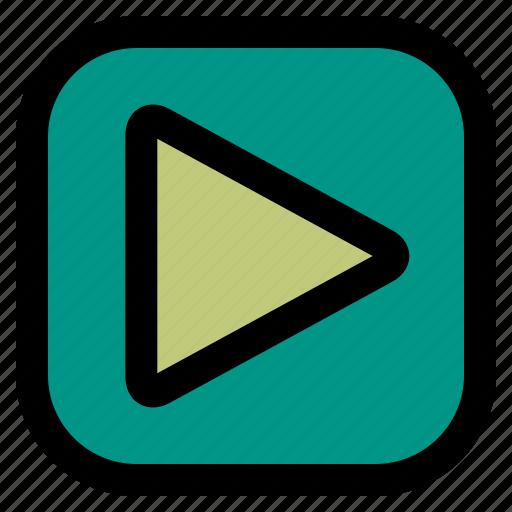 music, play, ui, video icon