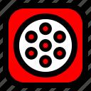 play, ui, video icon