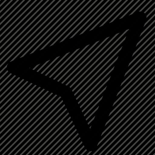 arrow, click, compass, cursor, direction, location, pointer icon