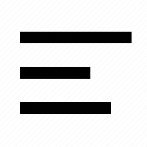 align, alignment, list, menu, paragraph, right, text icon