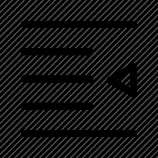 align, horizontal, left icon