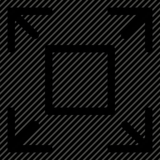enlarge, increase, maximize icon