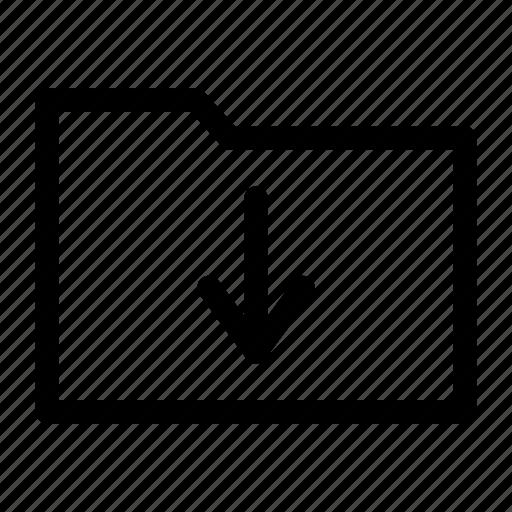 data, download, folder icon