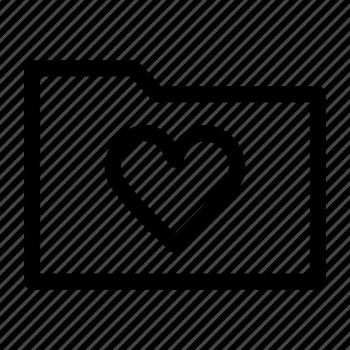 folder, heart, love icon