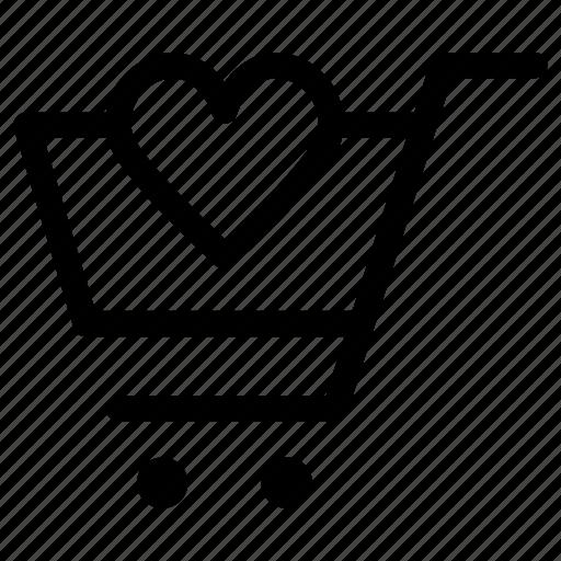 cart, favorite, shopping icon