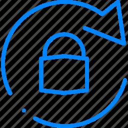change, lock, password, secure, security icon