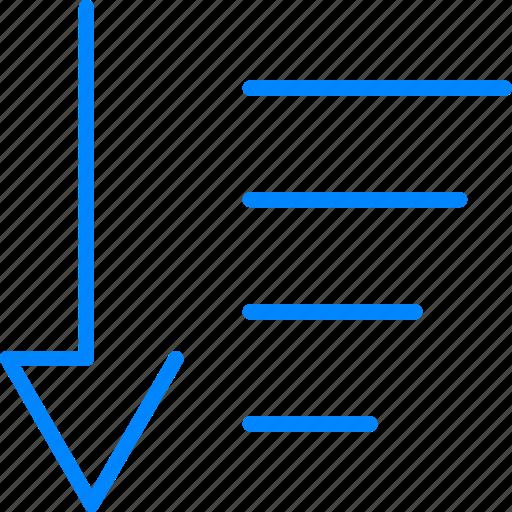 arrow, direction, down, sort icon