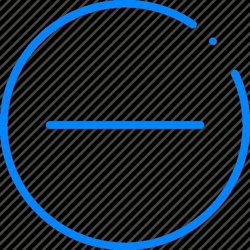 cancel, minus, remove, subtract icon