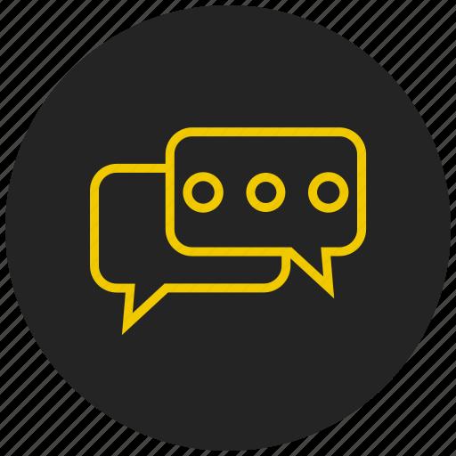 chat bubble, conversation, discuss, group chat, group message, message bubble, talk icon