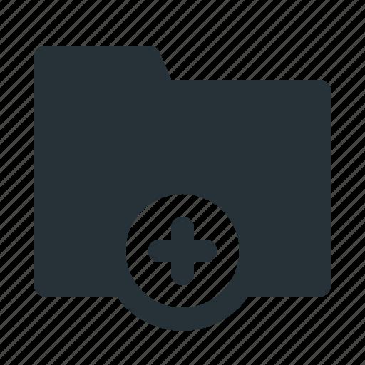 add, archive, folder, interface, ui, website icon