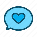chat, love, message, heart