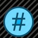 num, hashtag