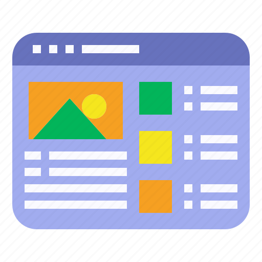 interface, mockup, website, wireframe icon