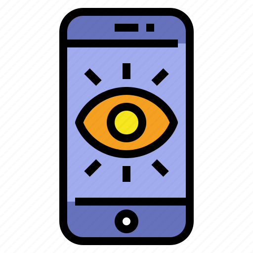 browse, care, eyes, mobile, tracking icon