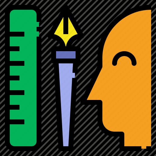 design, designer, graphic, illustrator icon