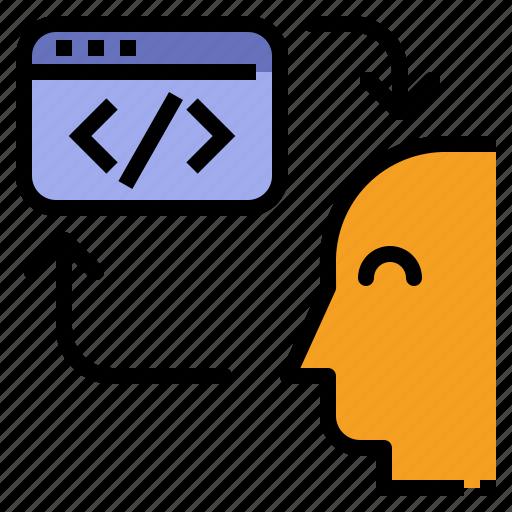 interaction, interactive, interface icon