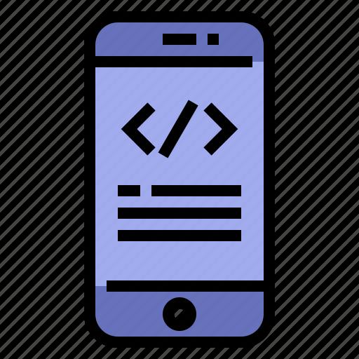 App, coding, development, mobile icon - Download on Iconfinder