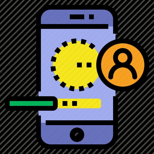 interfece, login, mobile, ui design icon