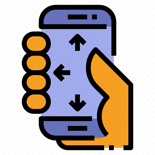 hand, hold, one, one hand, screen, smartphone, touch icon