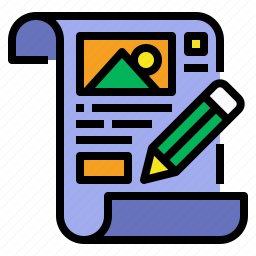 data, document, file, paper, requirement, sketch icon