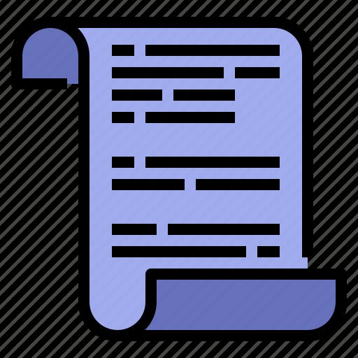 article, document, letter, manuscript, scenarios, script icon