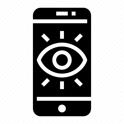 care, eyes, mobile, tracking icon