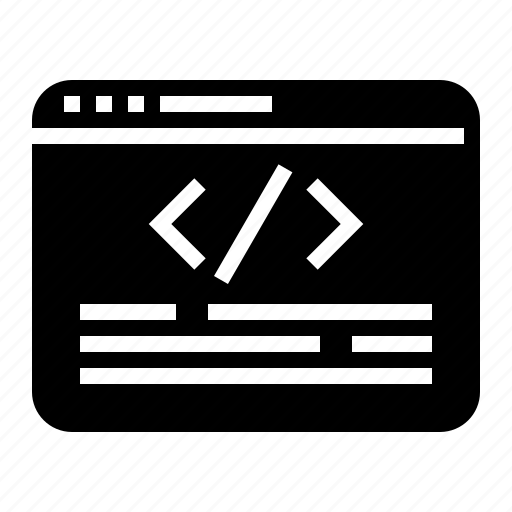 coding, development, web icon