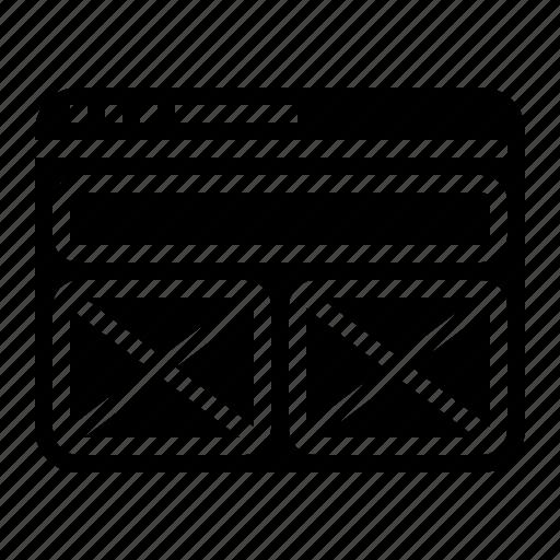 prototype, usability, wireframe icon