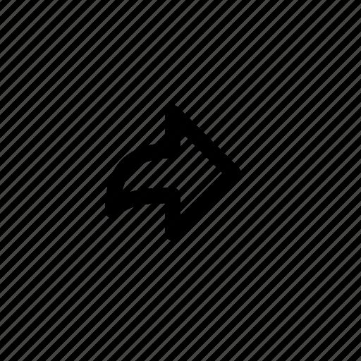 arrow, continue, forward, next, play, right, send icon