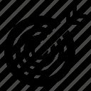 dartboard, aim, goal, objective, target board icon
