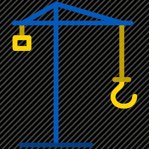 build, building, construct, construction, crane icon