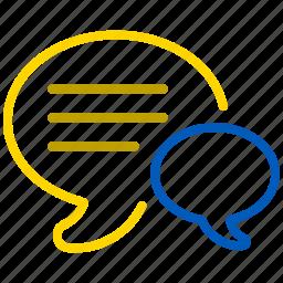 bubble, chat, comment, communication, forum, hints, message, speech, talk icon